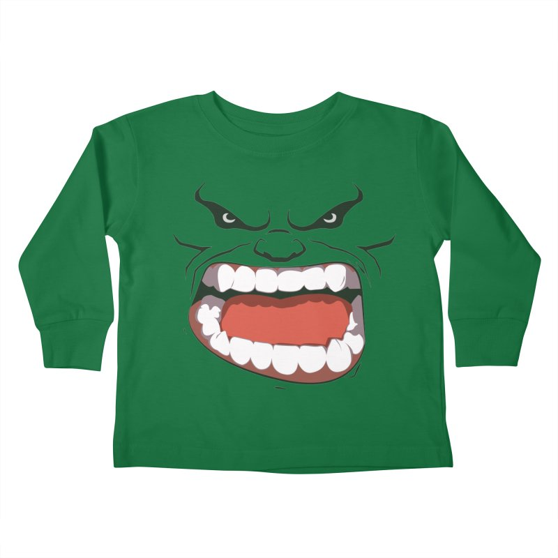 Green and angry Kids Toddler Longsleeve T-Shirt by RojoSalgado's Artist Shop