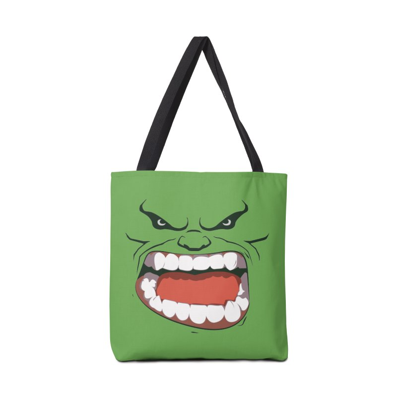 Green and angry Accessories Bag by RojoSalgado's Artist Shop