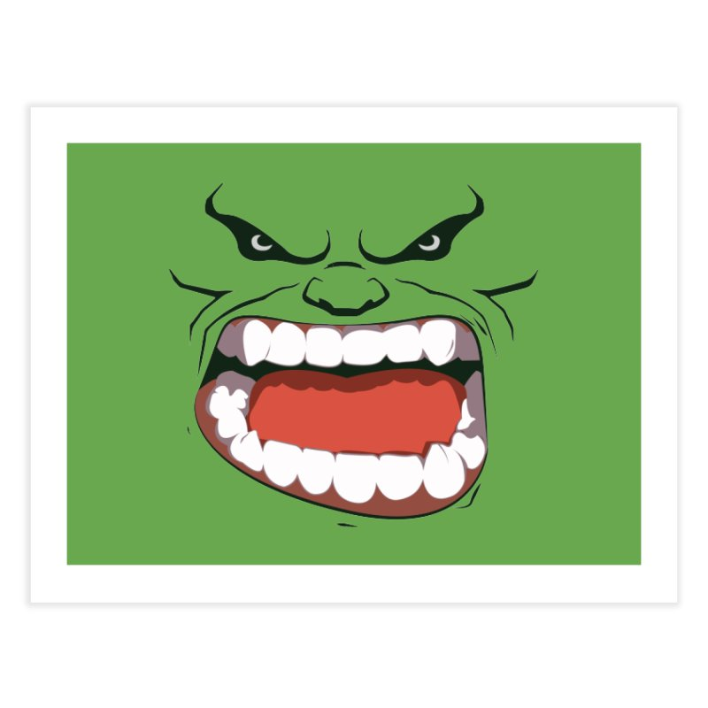 Green and angry Home Fine Art Print by RojoSalgado's Artist Shop