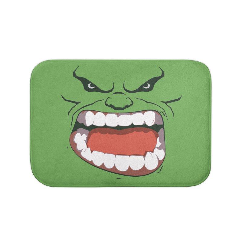 Green and angry Home Bath Mat by RojoSalgado's Artist Shop