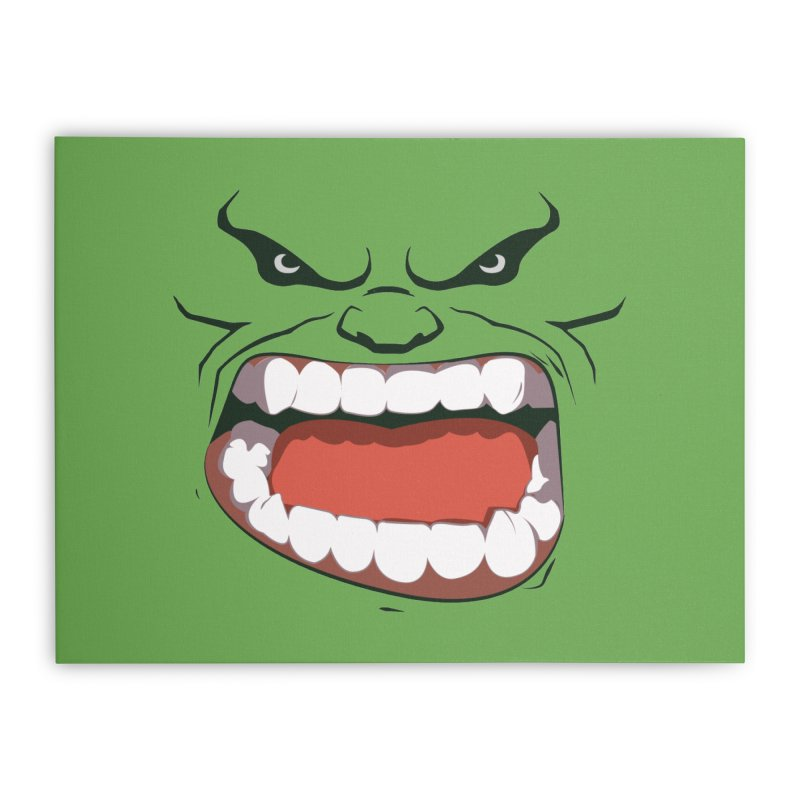 Green and angry Home Stretched Canvas by RojoSalgado's Artist Shop