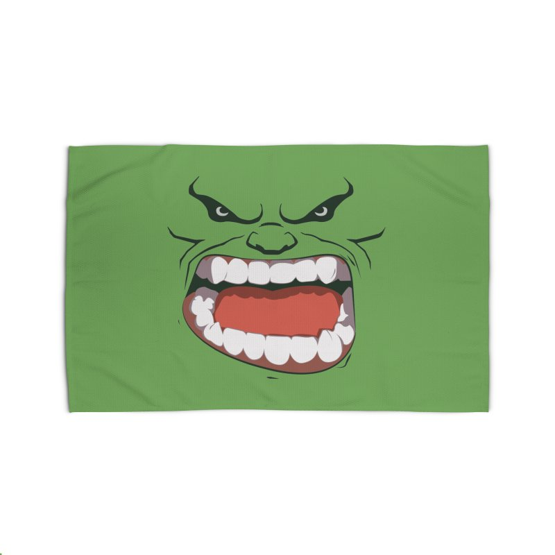 Green and angry Home Rug by RojoSalgado's Artist Shop