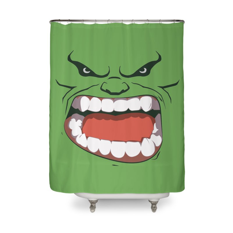 Green and angry Home Shower Curtain by RojoSalgado's Artist Shop