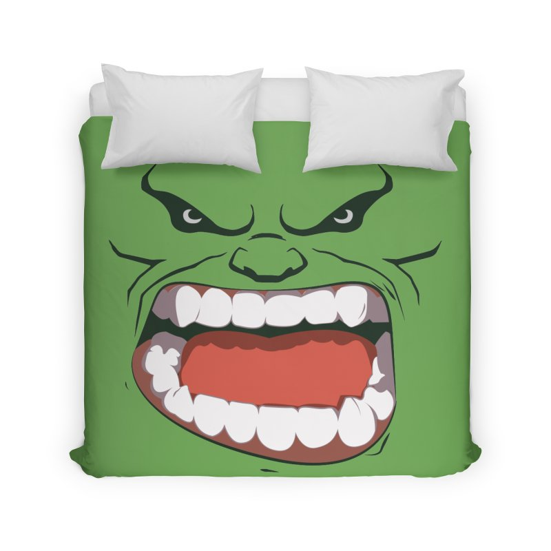 Green and angry Home Duvet by RojoSalgado's Artist Shop