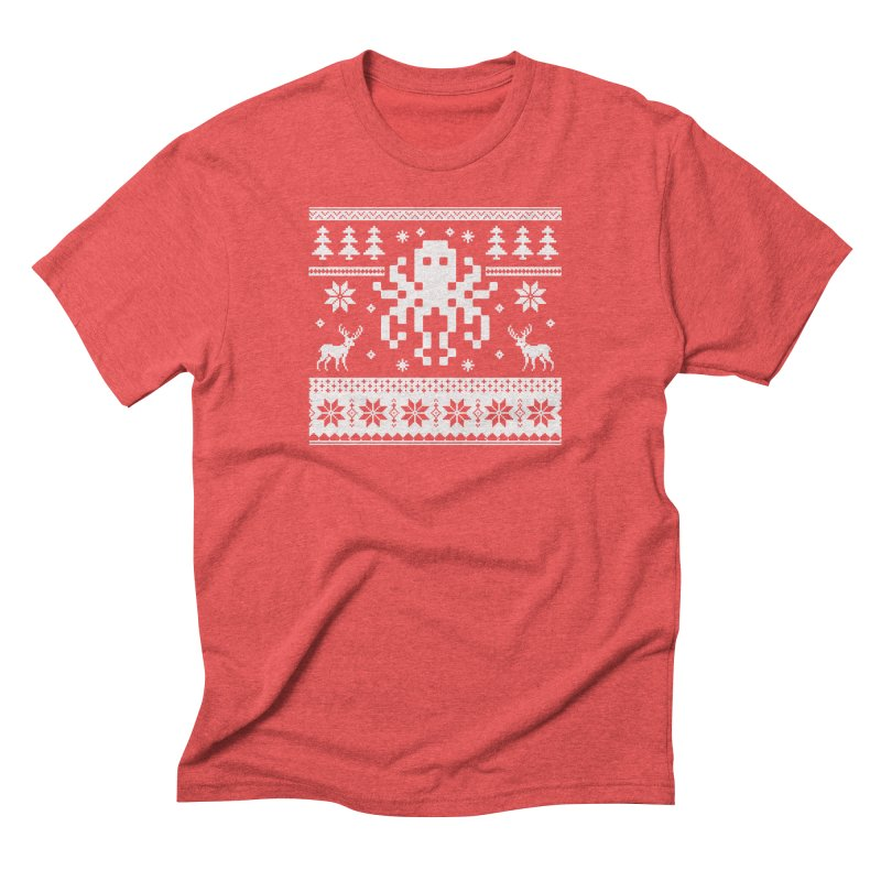 Octugly Christmas Sweater Men's Triblend T-Shirt by RojoSalgado's Artist Shop
