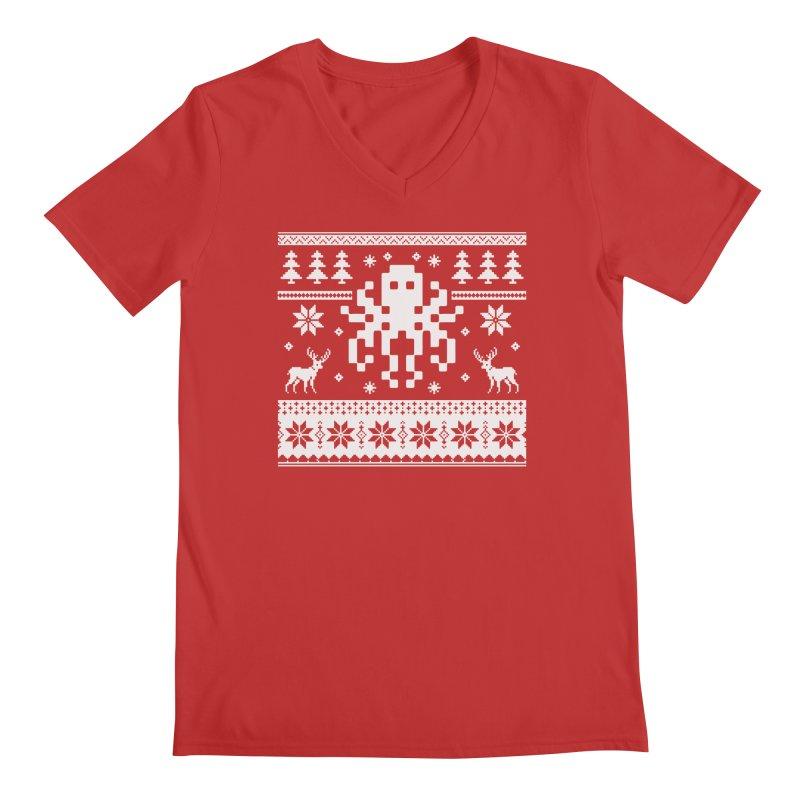 Octugly Christmas Sweater Men's V-Neck by RojoSalgado's Artist Shop