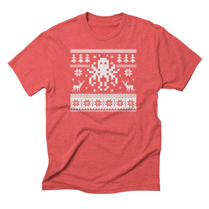 Octugly Christmas Sweater Men's Triblend T-shirt by RojoSalgado's Artist Shop