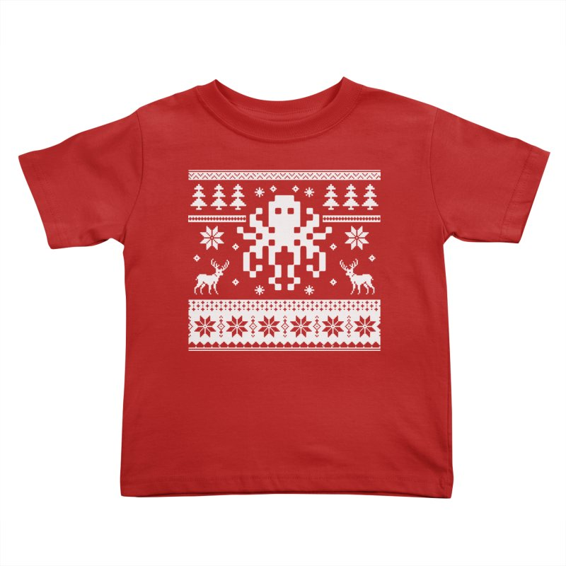 Octugly Christmas Sweater Kids Toddler T-Shirt by RojoSalgado's Artist Shop
