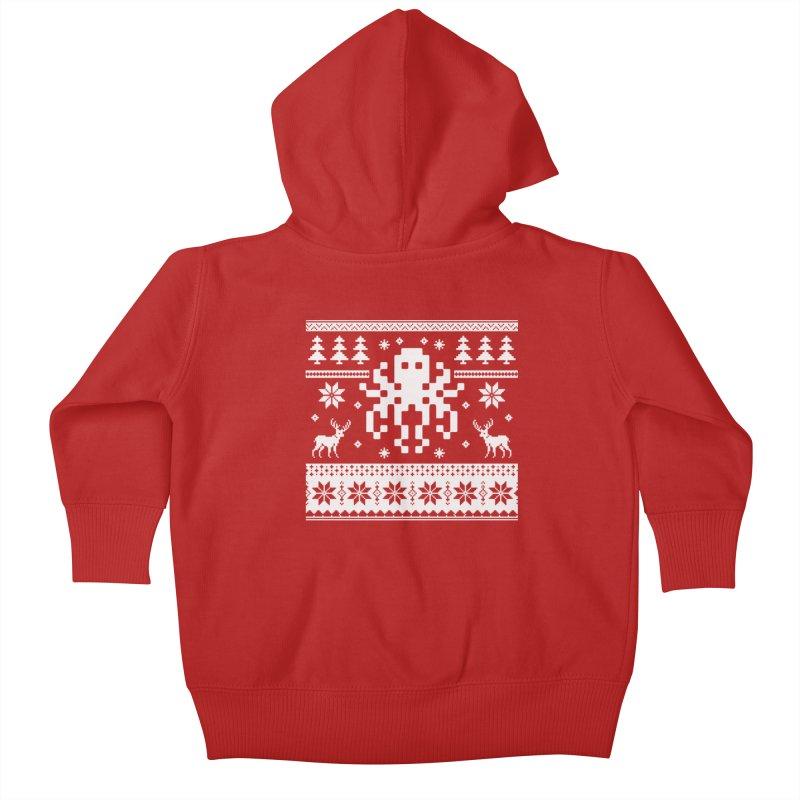 Octugly Christmas Sweater Kids Baby Zip-Up Hoody by RojoSalgado's Artist Shop