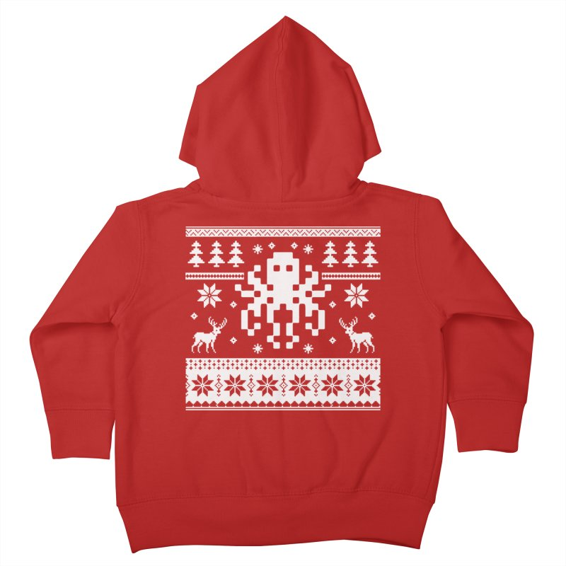 Octugly Christmas Sweater Kids Toddler Zip-Up Hoody by RojoSalgado's Artist Shop