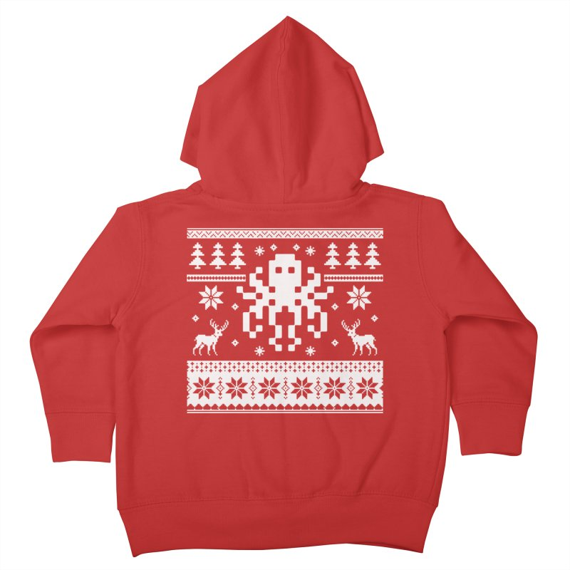 Octugly Christmas Sweater Kids Toddler Zip-Up Hoody by RojoSalgado's Artist Shop