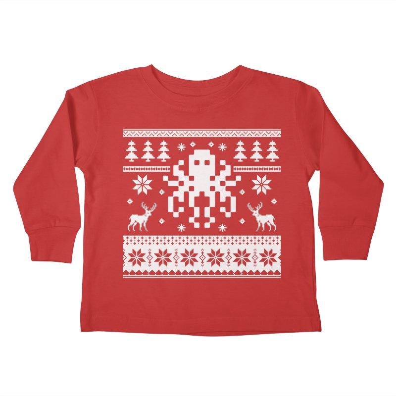 Octugly Christmas Sweater Kids Toddler Longsleeve T-Shirt by RojoSalgado's Artist Shop