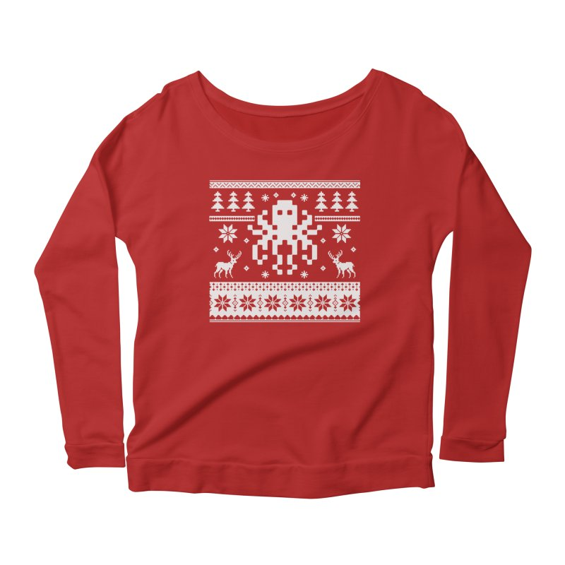 Octugly Christmas Sweater Women's Longsleeve Scoopneck  by RojoSalgado's Artist Shop