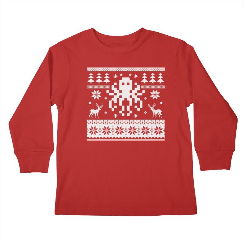 Octugly Christmas Sweater Kids Longsleeve T-Shirt by RojoSalgado's Artist Shop