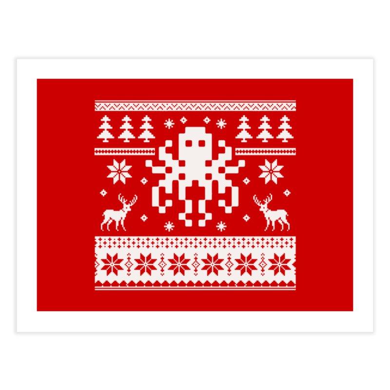 Octugly Christmas Sweater Home Fine Art Print by RojoSalgado's Artist Shop