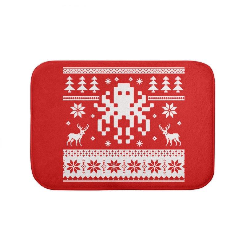 Octugly Christmas Sweater Home Bath Mat by RojoSalgado's Artist Shop