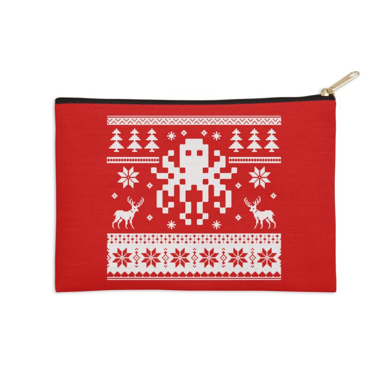 Octugly Christmas Sweater Accessories Zip Pouch by RojoSalgado's Artist Shop