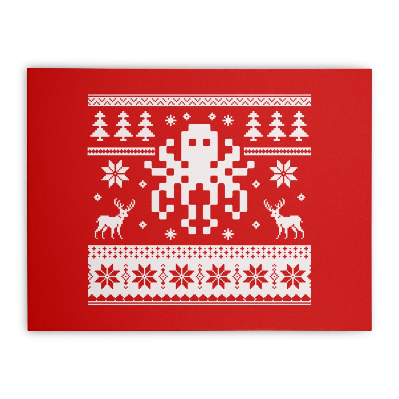 Octugly Christmas Sweater Home Stretched Canvas by RojoSalgado's Artist Shop