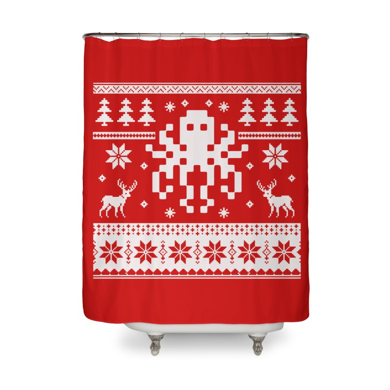 Octugly Christmas Sweater Home Shower Curtain by RojoSalgado's Artist Shop