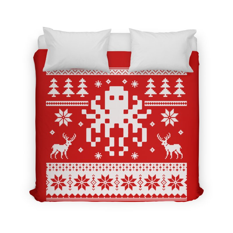 Octugly Christmas Sweater Home Duvet by RojoSalgado's Artist Shop