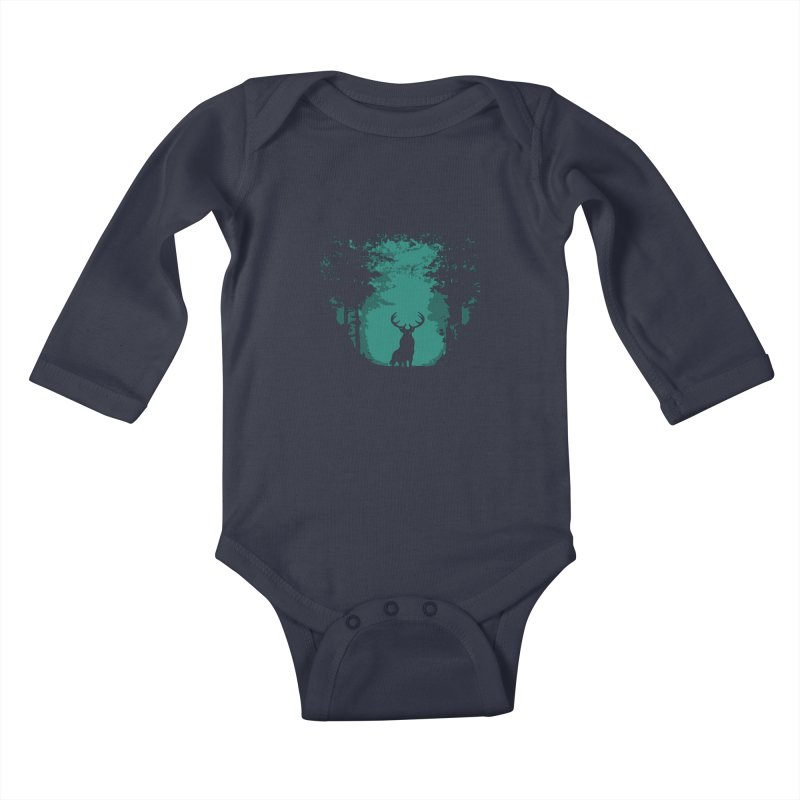 Forest Kids Baby Longsleeve Bodysuit by RojoSalgado's Artist Shop