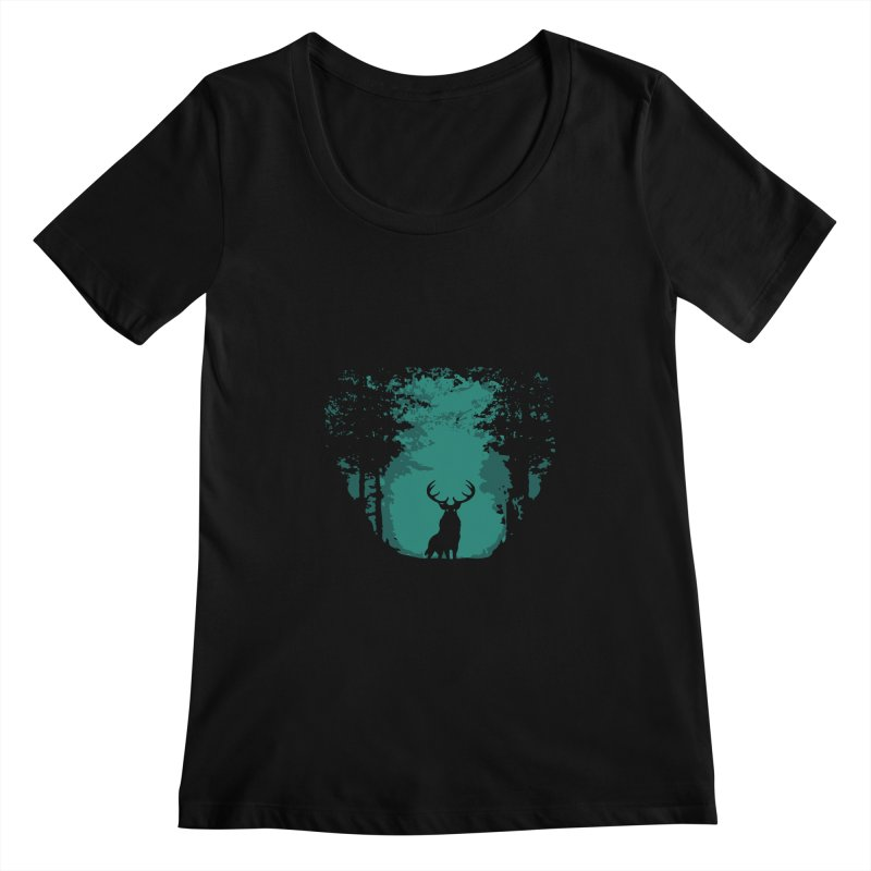 Forest Women's Scoopneck by RojoSalgado's Artist Shop