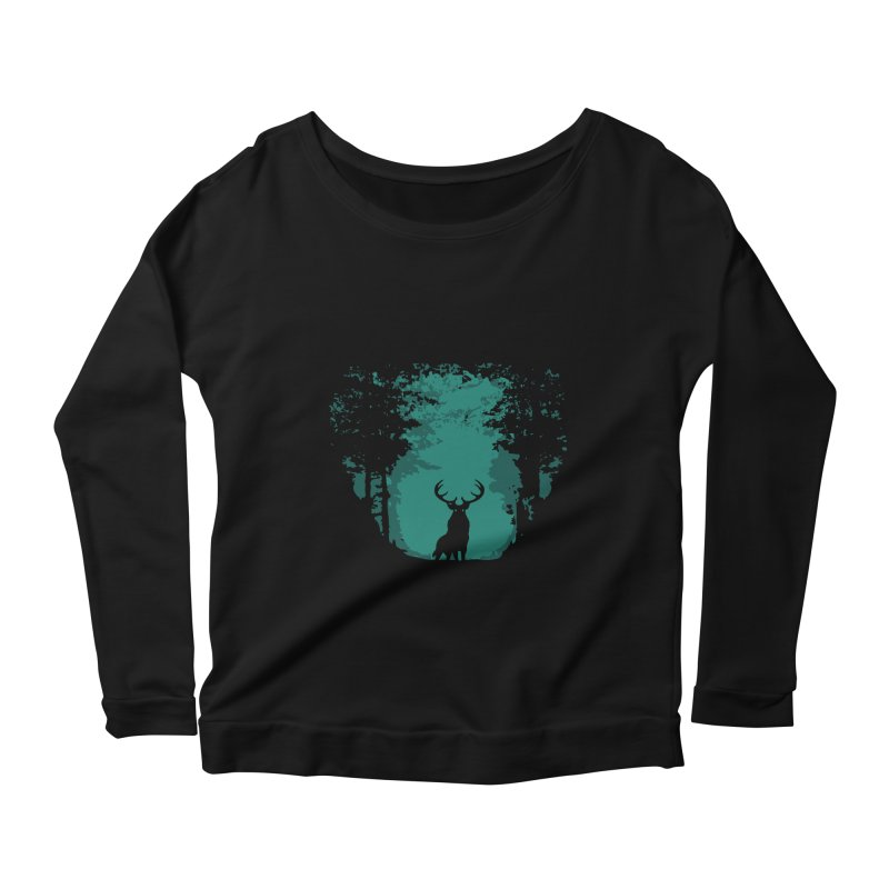 Forest Women's Longsleeve Scoopneck  by RojoSalgado's Artist Shop