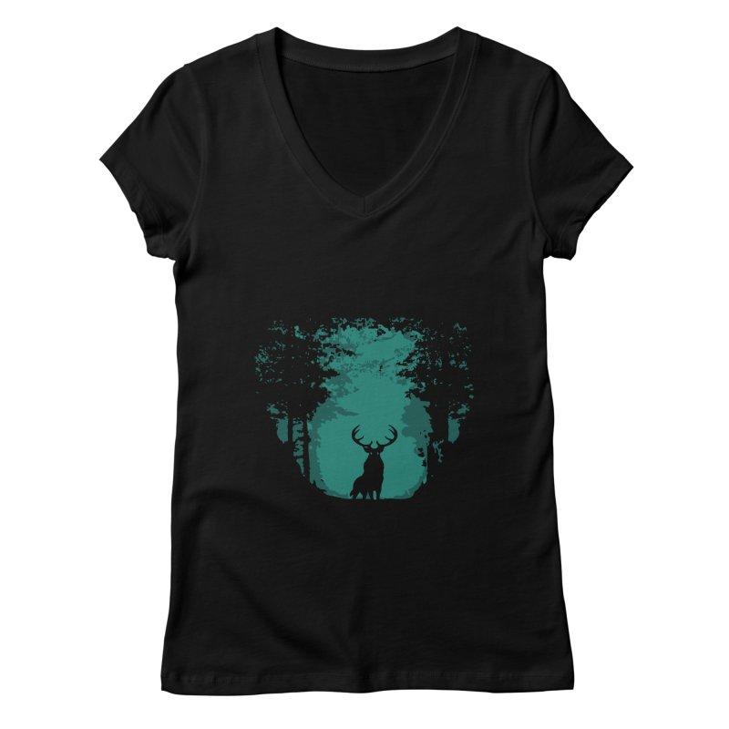 Forest Women's V-Neck by RojoSalgado's Artist Shop