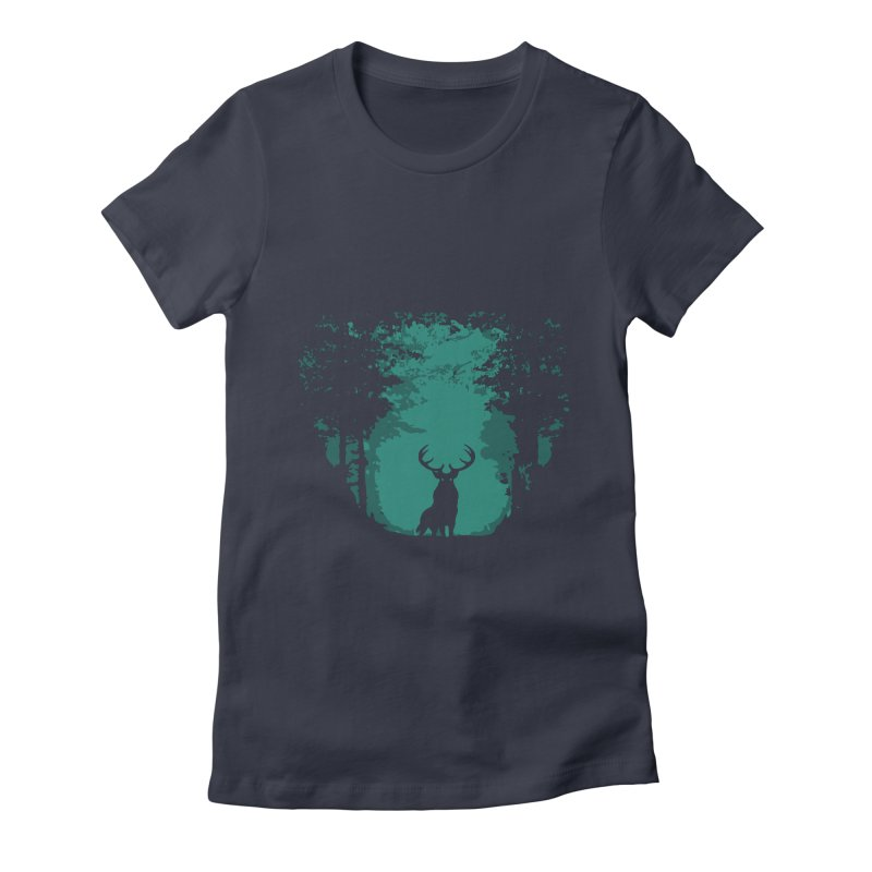 Forest Women's Fitted T-Shirt by RojoSalgado's Artist Shop
