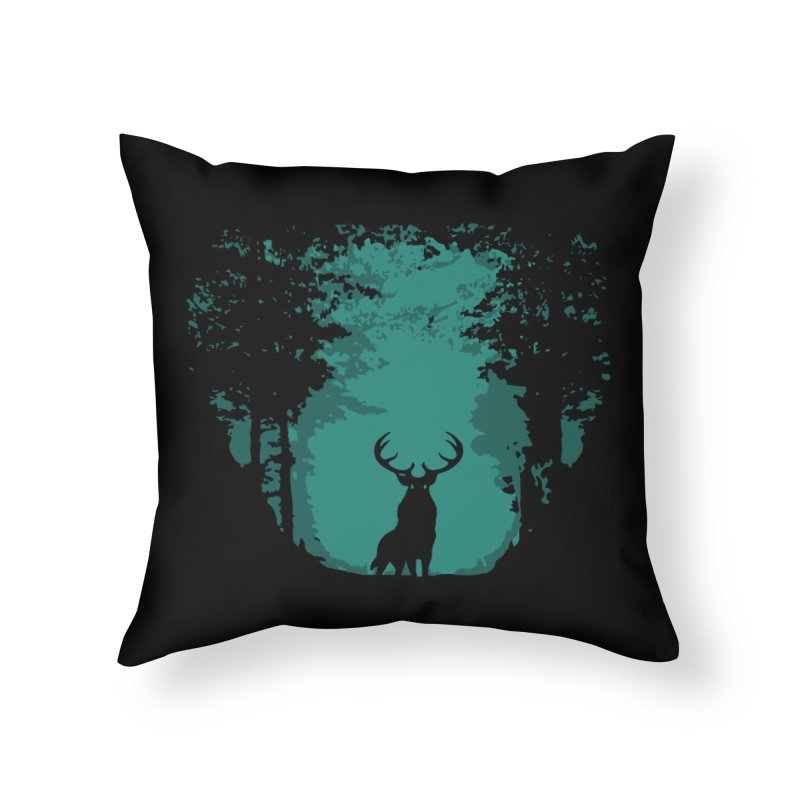 Forest Home Throw Pillow by RojoSalgado's Artist Shop
