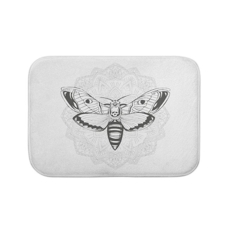 Death Moth Home Bath Mat by RojoSalgado's Artist Shop