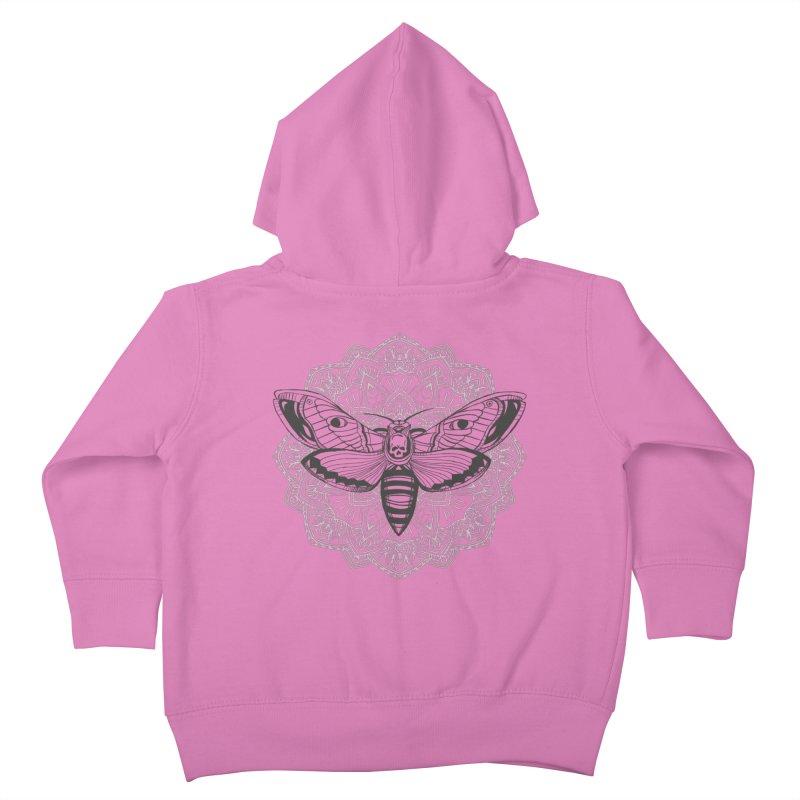 Death Moth Kids Toddler Zip-Up Hoody by RojoSalgado's Artist Shop