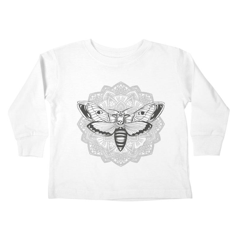 Death Moth Kids Toddler Longsleeve T-Shirt by RojoSalgado's Artist Shop