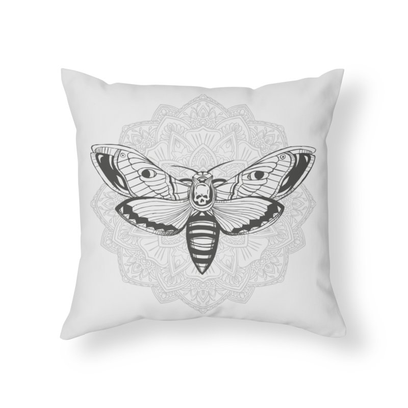 Death Moth Home Throw Pillow by RojoSalgado's Artist Shop