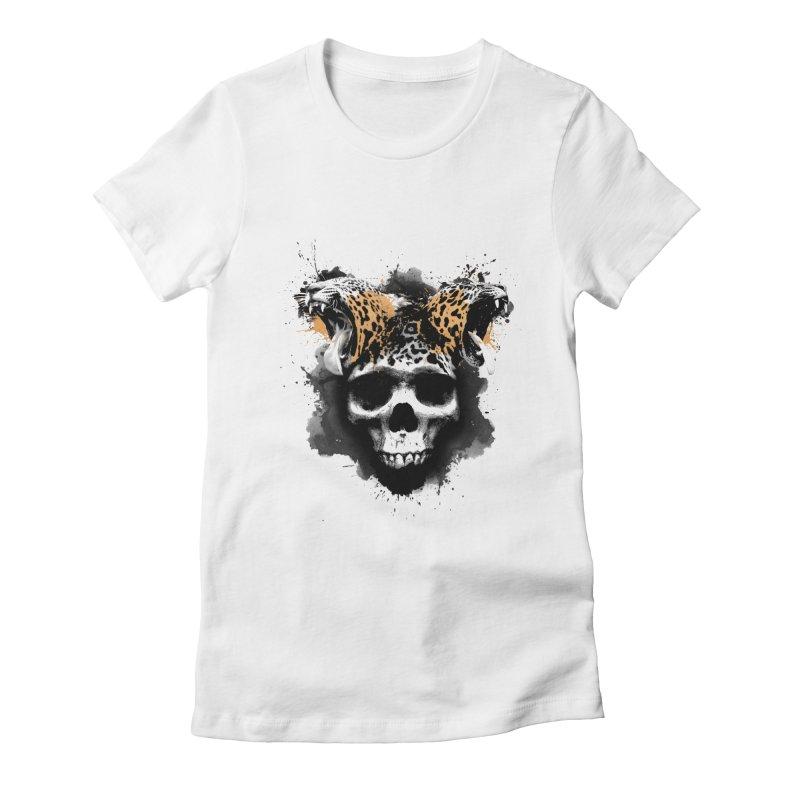WILD INK Women's Fitted T-Shirt by RojoSalgado's Artist Shop