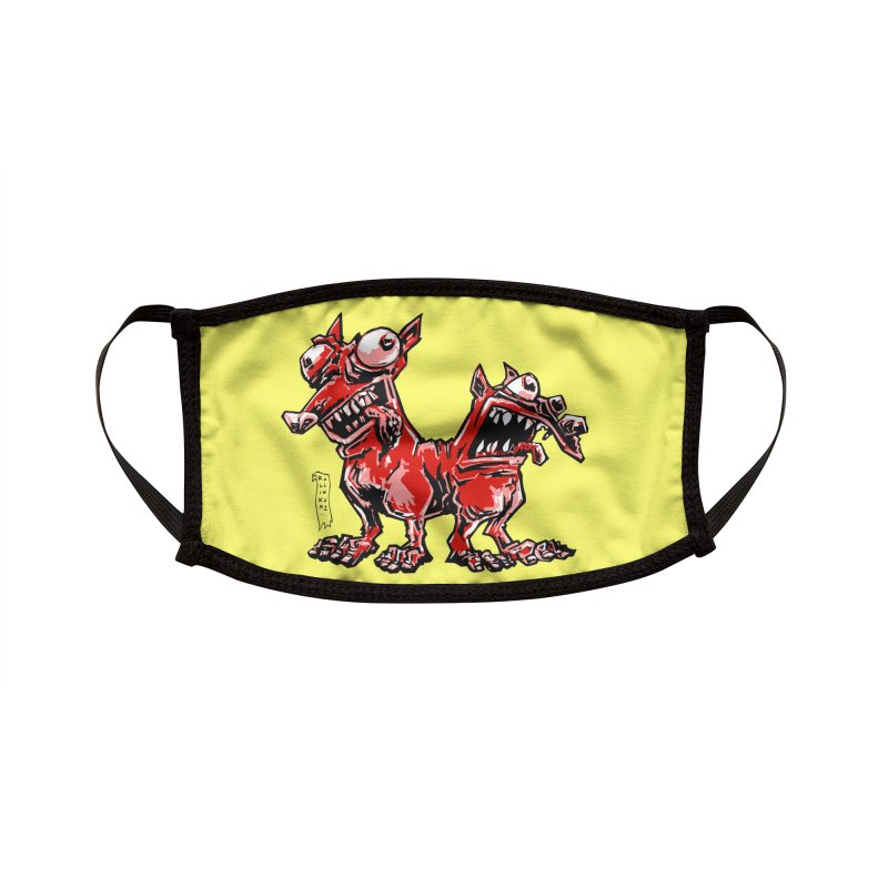 SKITZ, THE TWO-HEADED DOG Accessories Face Mask by