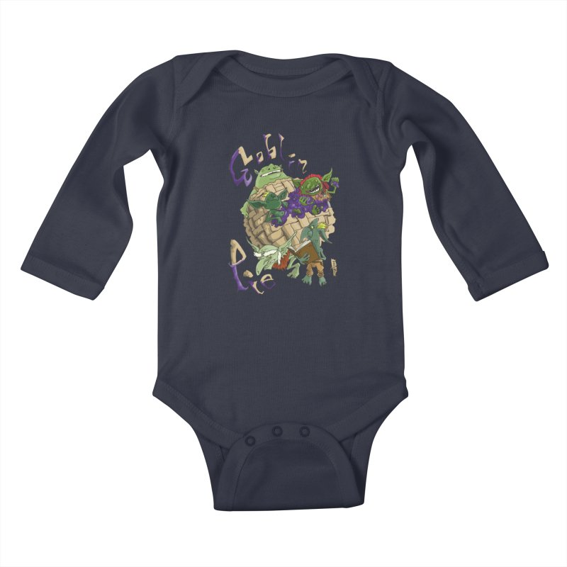 Goblin Pie! Kids Baby Longsleeve Bodysuit by