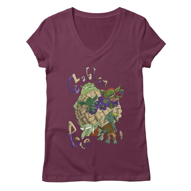 Goblin Pie! Women's V-Neck by