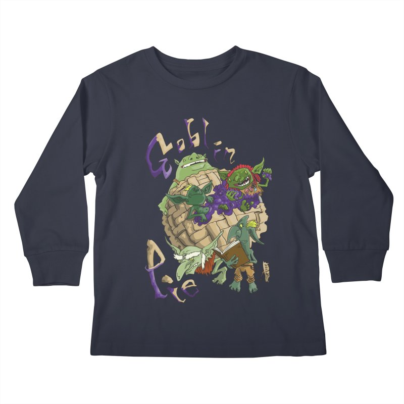 Goblin Pie! Kids Longsleeve T-Shirt by