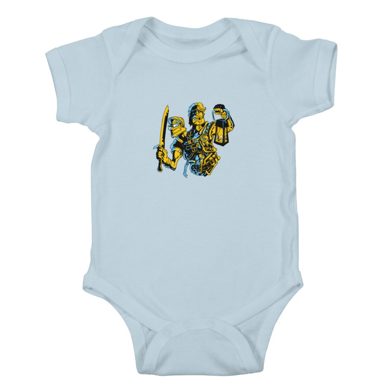 2-Headed Hero Kids Baby Bodysuit by