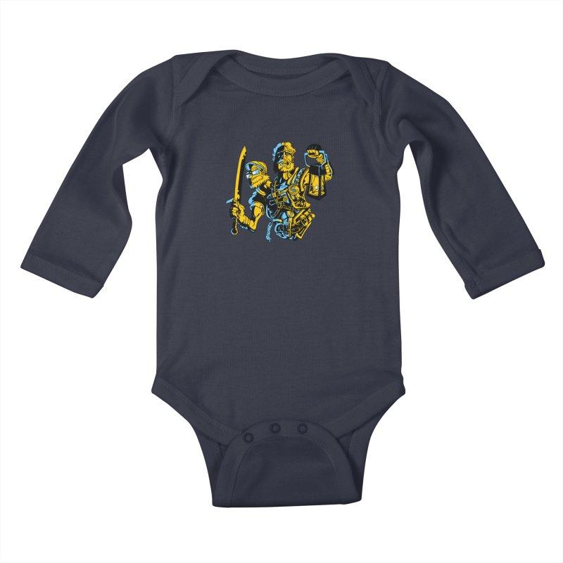 2-Headed Hero Kids Baby Longsleeve Bodysuit by