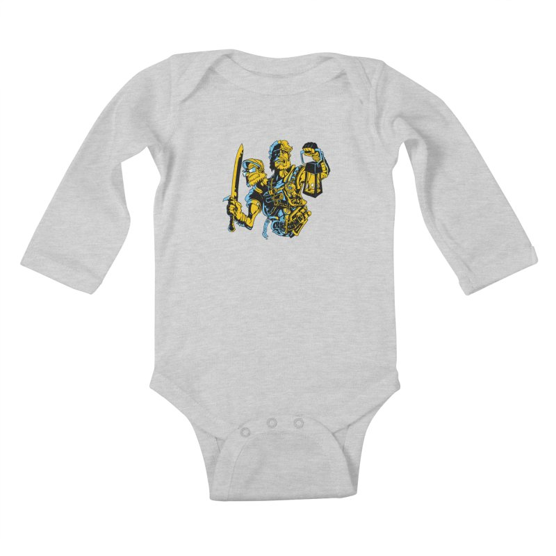 2-Headed Hero Kids Baby Longsleeve Bodysuit by
