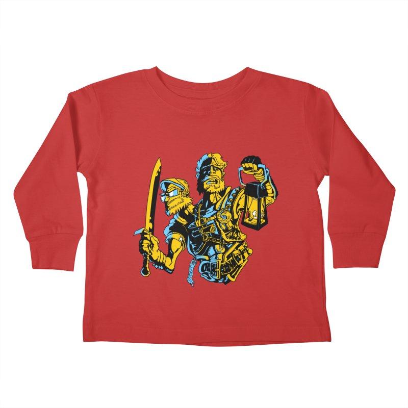 2-Headed Hero Kids Toddler Longsleeve T-Shirt by