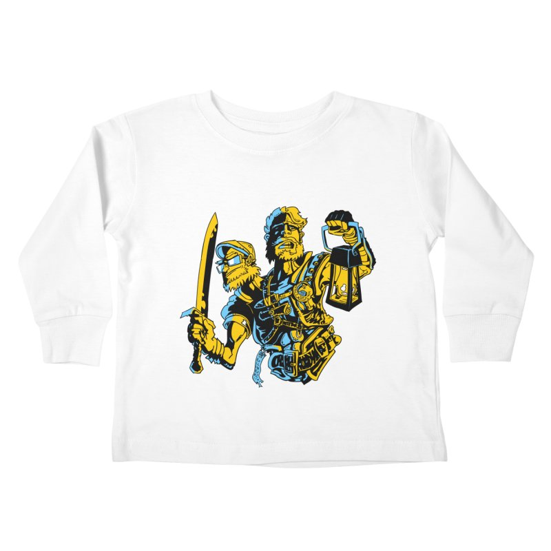 2-Headed Hero Kids Toddler Longsleeve T-Shirt by