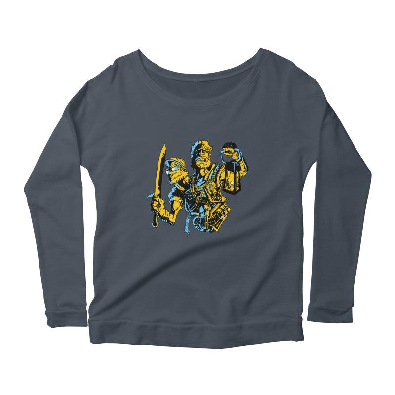 2-Headed Hero Women's Scoop Neck Longsleeve T-Shirt by