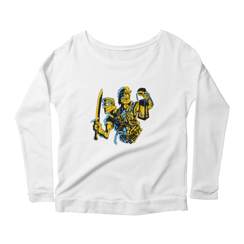 2-Headed Hero Women's Longsleeve Scoopneck  by