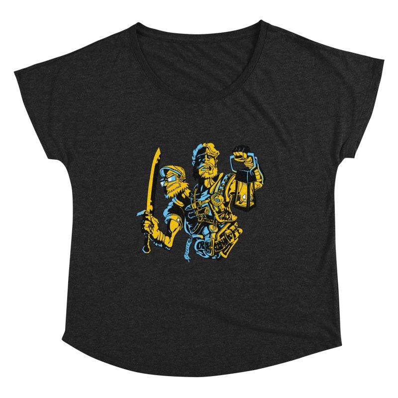 2-Headed Hero Women's Dolman Scoop Neck by