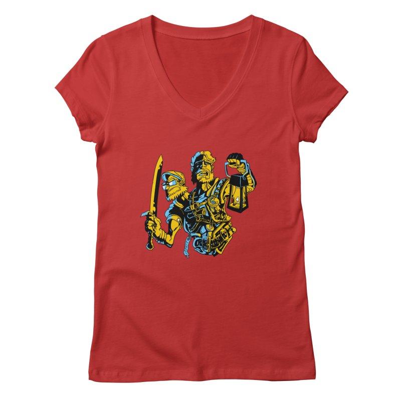 2-Headed Hero Women's V-Neck by