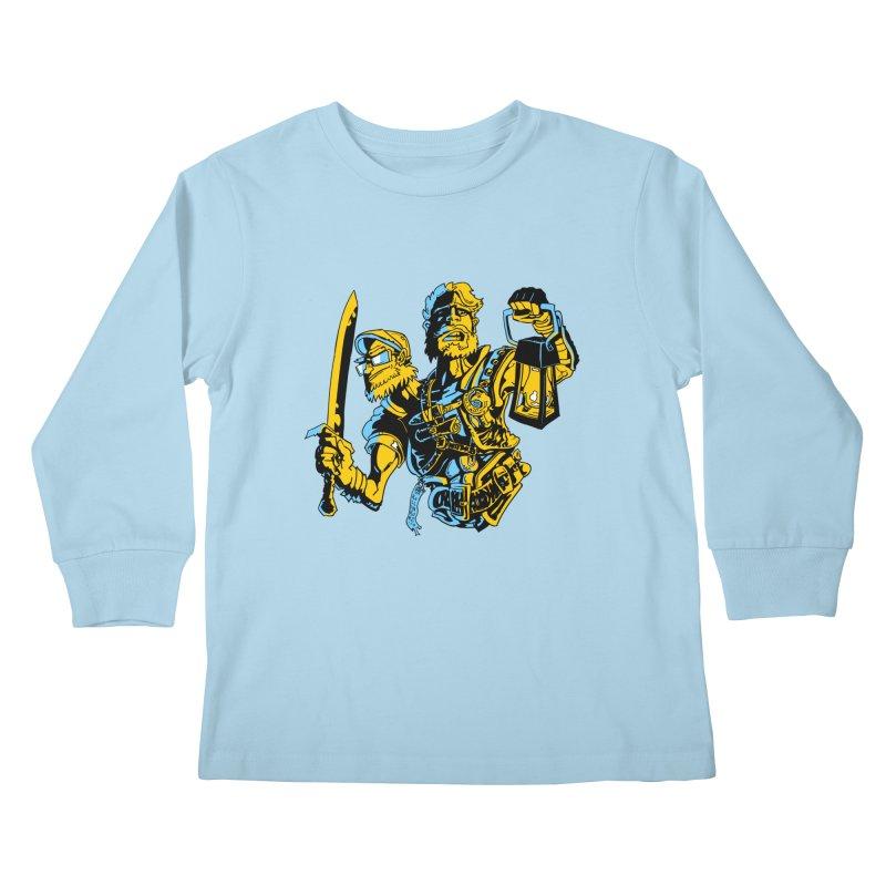 2-Headed Hero Kids Longsleeve T-Shirt by