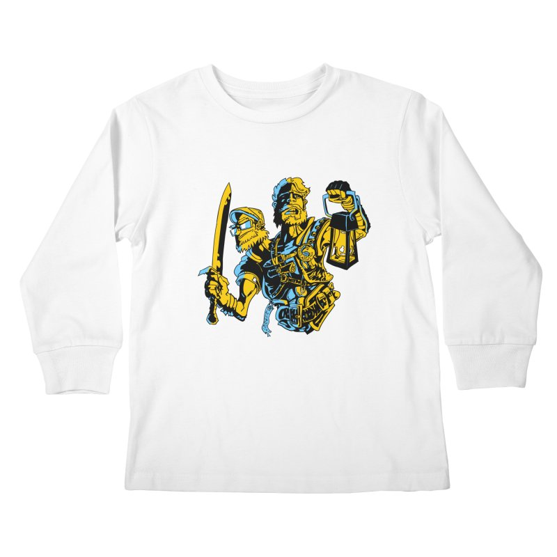 2-Headed Hero Kids Longsleeve T-Shirt by